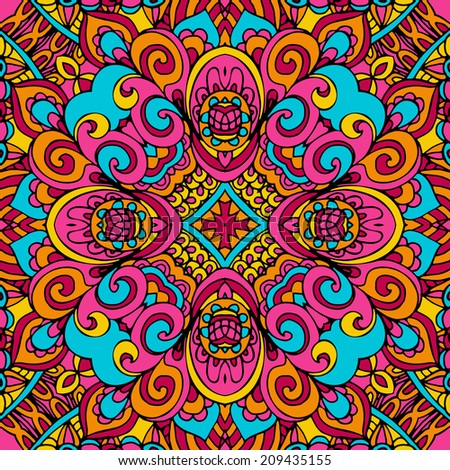 Abstract seamless ethnic tribal vector background
