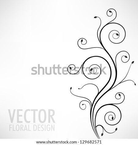 Abstract seamless floral pattern. - stock vector