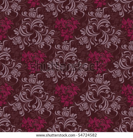 Abstract seamless floral pattern - stock vector