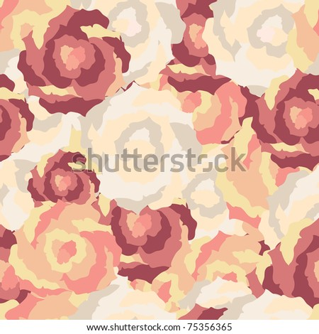 Abstract seamless floral pattern. Vector - stock vector