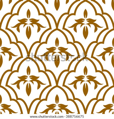 Abstract Seamless floral pattern. Vector background. - stock vector