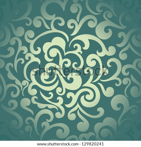 Abstract seamless floral swirls wallpaper