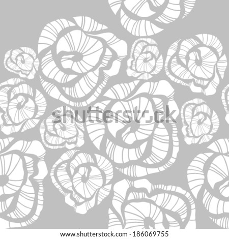 Abstract seamless flower rose pattern - stock vector