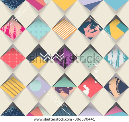 Abstract seamless geometric background - stock vector