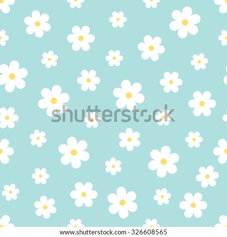 Abstract Seamless geometric floral pattern. Vector  illustration - stock vector