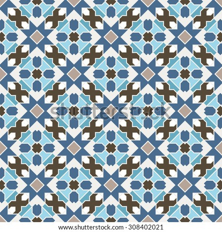 Abstract Seamless Geometric Islamic Wallpaper. Vector Arabic Colorful Pattern.  - stock vector