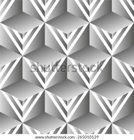 Abstract seamless geometric monochrome diagonal pattern. Vector texture background.  - stock vector