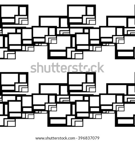 Abstract seamless geometric pattern. Vector background for print onto fabric, textile and wallpaper.