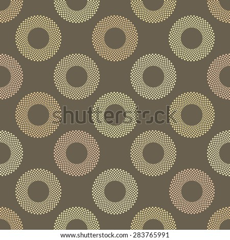 Abstract Seamless geometric pattern with circles of dots.Vector - stock vector