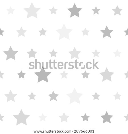 Abstract Seamless geometric pattern with stars on a white background. Vector illustration - stock vector