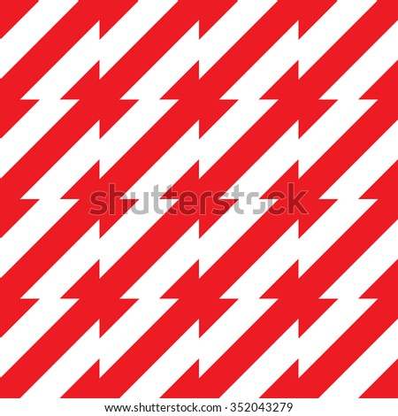 abstract seamless geometric red diagonal pattern, monochrome black and white vector illustration - stock vector