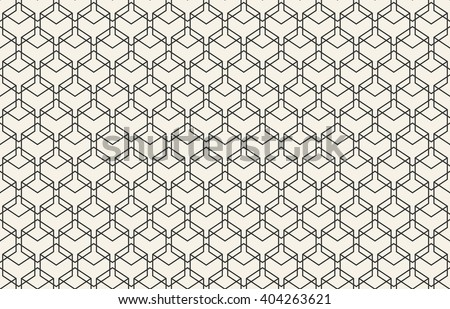 Abstract seamless geometric wallpaper pattern for your design - stock vector