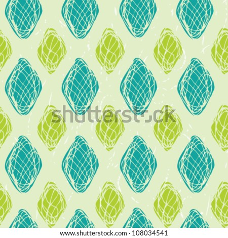 Abstract seamless grunge pattern. Bright summer texture - stock vector
