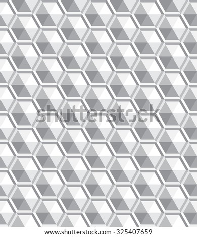 abstract seamless modern hexagon pattern, vector illustration - stock vector