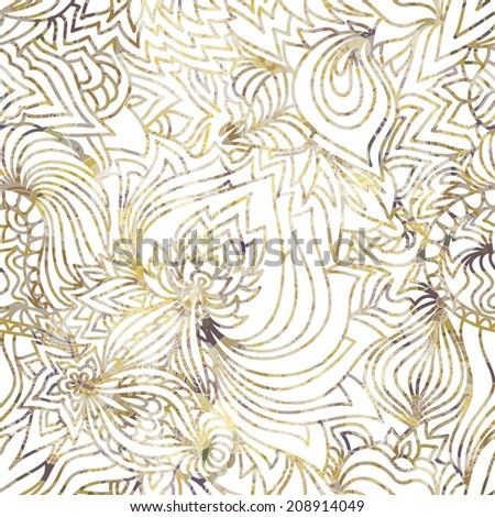 Abstract seamless ornamental vector background