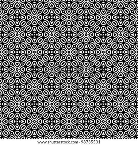 Abstract seamless pattern background black and white vector illustration