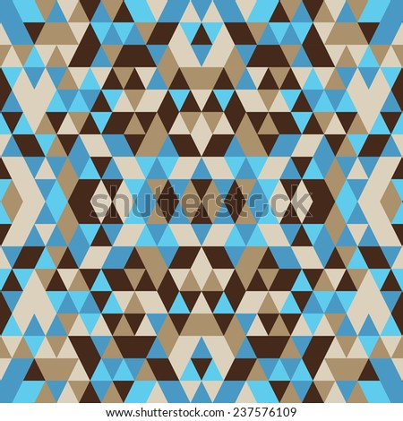 Abstract seamless pattern based on geometric shapes. Can be used as decoration for the gift boxes, wallpapers, backgrounds, web sites.  - stock vector