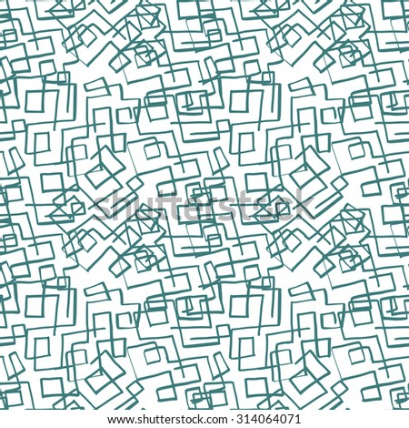 abstract seamless pattern. Decorative textured background with angular web of hand drawn lines