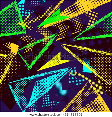 Abstract Seamless Geometric Pattern Motion Drive Stock Vector ...