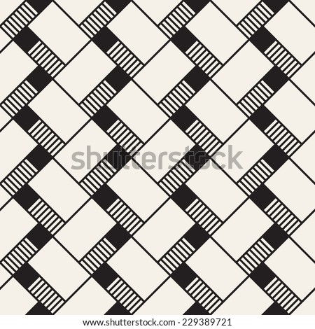 Abstract seamless pattern. Geometric simple background with straight angles. Vector illustration - stock vector