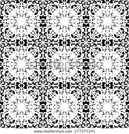 Abstract seamless pattern in black&white color for endless backgrounds, printings and textures. Editable vector. Eps 10