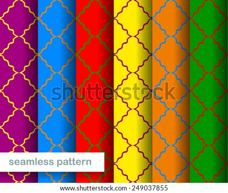 Abstract seamless pattern in different color - stock vector
