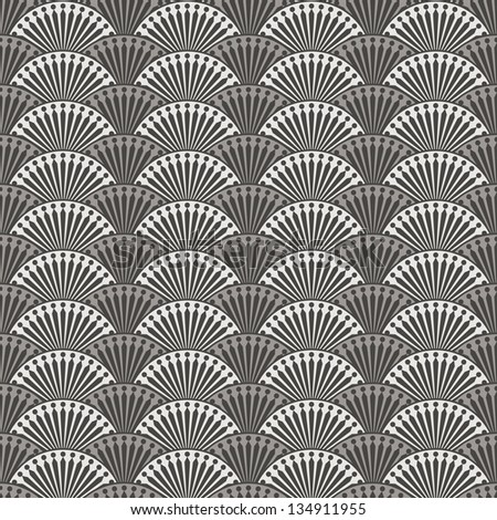 Abstract seamless pattern in retro style. Vector illustration