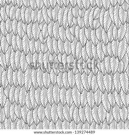 Abstract seamless pattern leaves, EPS10 Vector background - stock vector