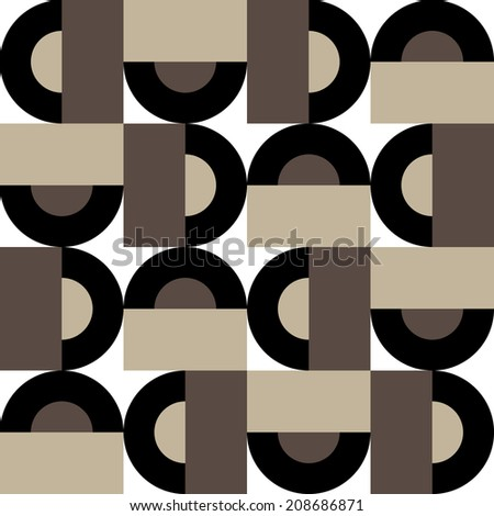 Abstract seamless pattern of geometric figures - stock vector