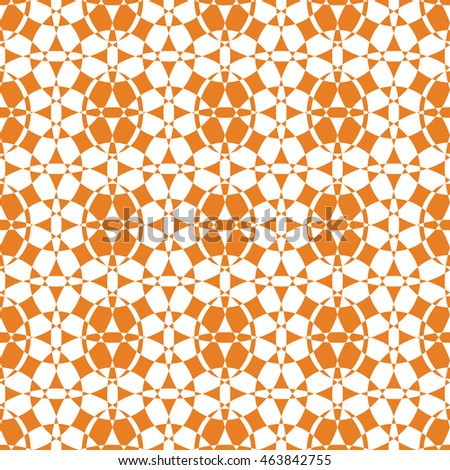 Abstract seamless pattern of orange color for wallpapers and background.