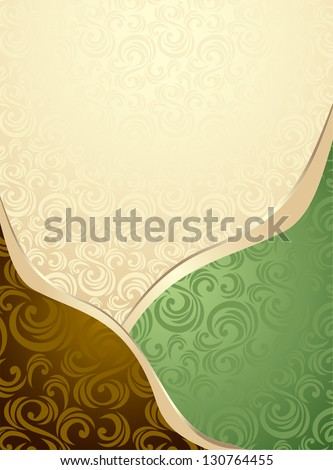 Abstract Seamless pattern or background green  and brown for advertising something - stock vector