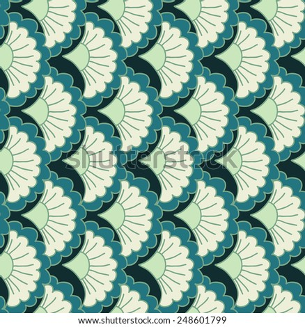 Abstract seamless pattern. Organic ornament. Vector repeating texture. Fish scales. - stock vector