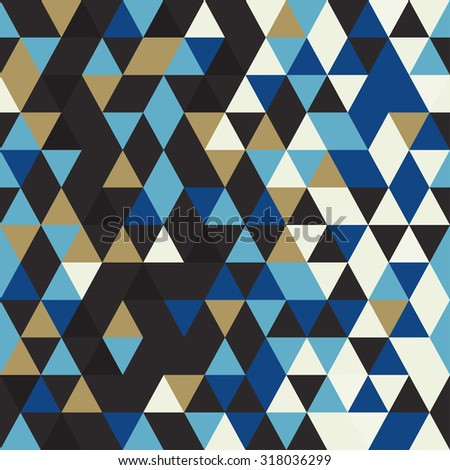 Abstract seamless pattern. Origami ornament. Geometric backdrop. Polygonal crystal texture. Triangular texture. Winter vector abstract. - stock vector
