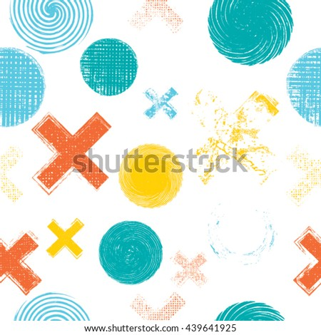 Abstract Seamless Pattern. Repeating halftone dots background.
