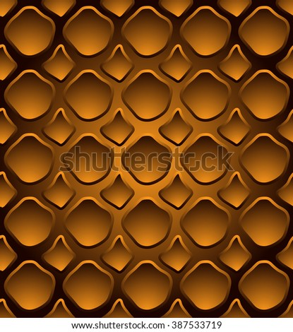 Abstract seamless pattern - snake leather style - stock vector