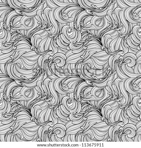 Abstract seamless pattern waves, EPS10 Vector background - stock vector