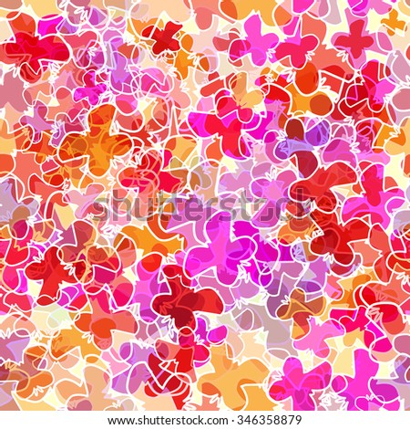 abstract seamless pattern with butterflies - stock vector