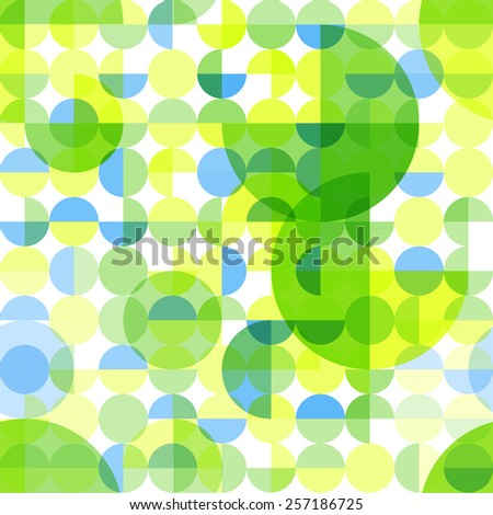 Abstract seamless pattern with circles. Pattern for fabric.