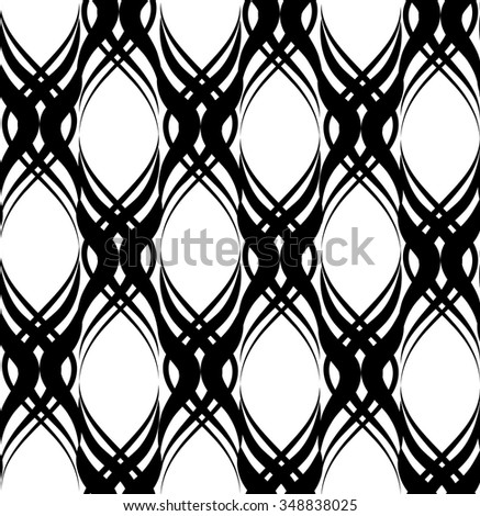 Abstract seamless pattern with circular line ornament Swirl geometric oriental doodle texture. Ornamental snowflakes mosaic background. - stock vector