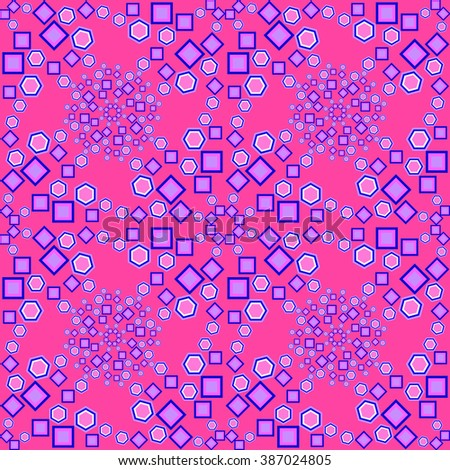 Abstract seamless pattern with geometrical shape. Vector illustration