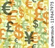 Abstract seamless pattern with money. Vector illustration (eps10). - stock photo