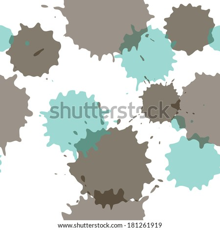 abstract seamless pattern with paint stains, vector illustration