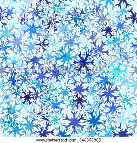 abstract seamless pattern with snowflakes - stock vector