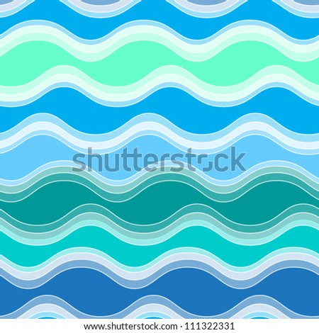 Abstract seamless pattern with  waves.vector illustration - stock vector