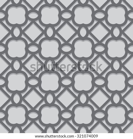Abstract seamless patterns in Islamic style. Vector illustration - stock vector