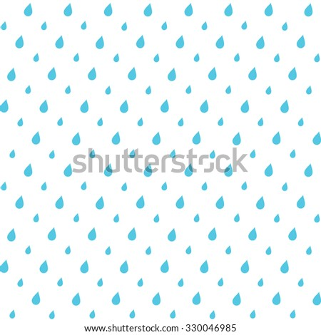 Abstract seamless repeatable minimal blue and white wallpaper background design with rain drops . Eps 10 stock vector illustration