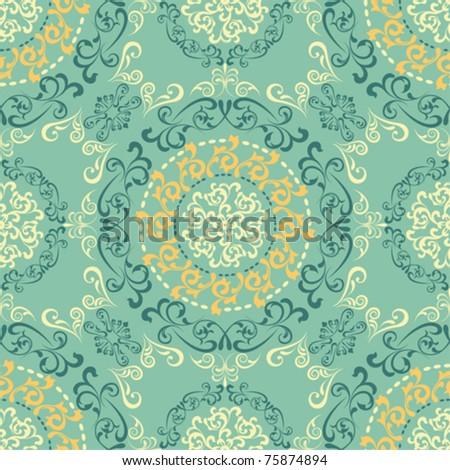 Abstract seamless retro pattern. Illustration vector. - stock vector