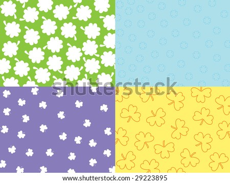 abstract seamless shamrock with background, vector concept - stock vector