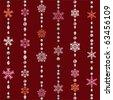 Abstract seamless snowflake pattern. Illustration vector. - stock vector