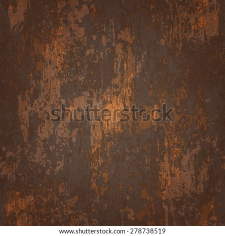 abstract seamless texture of dark brown rusted metal - stock vector